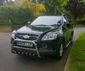 2008 Chevrolet Captiva, Black, great condition, just been serviced and MOT'd