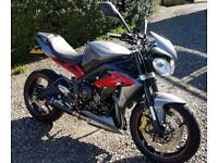 Triumph Street triple R 2013 675cc 4,500 miles