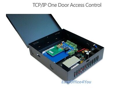 Two Single Door (Single door Two RFID Readers TCP/IP Access Control and Power Supply Box )