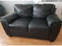 Real 2 seater leather sofa