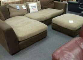 Corner sofa + stool (British Heart Foundation)
