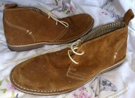 Desert boots by howick mens size 10