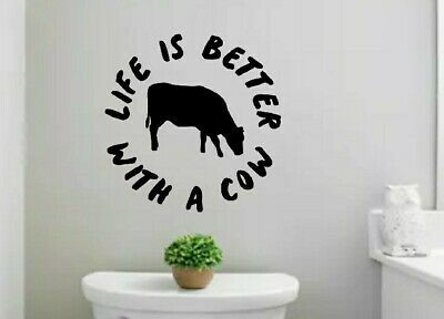 Life better cow  vinyl Decal, yeti sticker Car Decal Sticker, For Car,