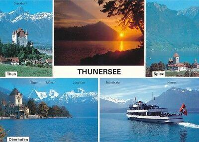 alte AK 32097 Thunersee, Schweiz 5 Ansichten ungelaufen Ansichtskarte B034a