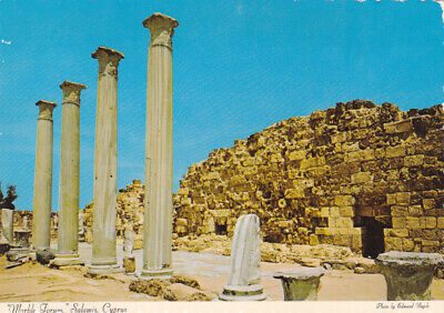 CYPRUS POSTCARD THE MARBLE FORUM SALAMIS FAMAGUSTA BY NAGELE c1973