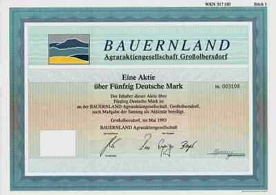 Bauernland Agraraktiengesellschaft Großolbersdorf 1993 Marienberg Hilmersdorf 50