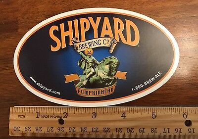 "SHIPYARD BREWING CO. ""pumpkinhead"" Beer Skateboard STICKER Decal Craft Brewery"