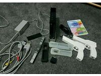 Nintendo wii black with accessories 1 game 3in1 tv lead