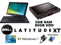 Dell LATITUDE XT Tablet/Laptop Edition - 2 gb Core 2 Duo Win 7 touchscreen grade