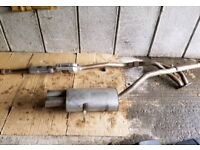 BMW 318i 316i e36 4cyl. Stainless Steel Exhaust System Scorpion rear box and downpipe