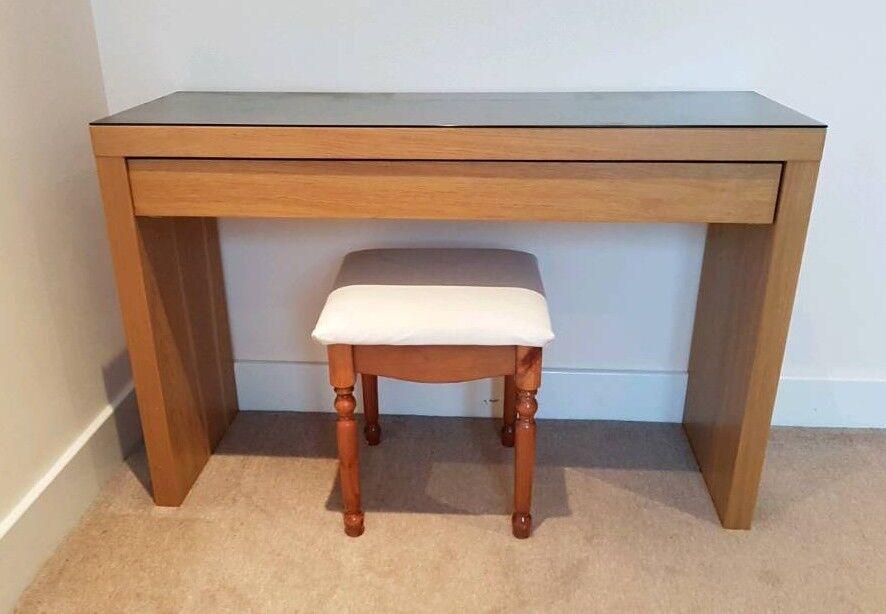 IKEA MALM Dressing Table   Oak Finish