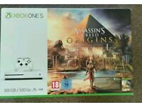 Brand new Xbox one S 4K with assassins creed origins