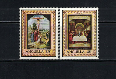 Br CW: Anguilla 1969: #68-69 Easter, Religion, Paintings NH:Lot#4/16