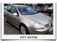 VOLKSWAGEN GOLF TDi 1.9 DIESEL AUTOMATIC 5 DOOR 2005 REG 119,000 MILES GOLD