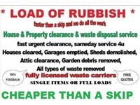 ALL DOMESTIC RUBBISH AND COMMERCIAL WASTE REMOVED MAN&VAN ALL CLEARANCES CHEAPER THAN A SKIP.