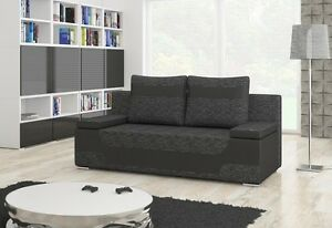 couch area 2 sitzer mit bettfunktion schlaffunktion bettkasten schlafsofa 01492 ebay. Black Bedroom Furniture Sets. Home Design Ideas