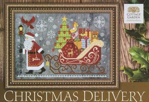 COTTAGE GARDEN Counted Cross Stitch Chart Pattern CHRISTMAS DELIVERY