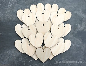 25x-Wooden-Heart-Shapes-Blank-Embellishments-Craft-35mm