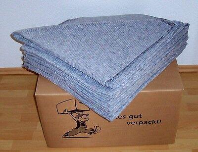 Packdecken 100x230 cm - 320g/qm - Transport Möbeldecken Umzugsdecken Umzug Decke