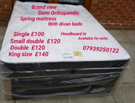 Brand new Divan Beds with Mattress (07939250122)