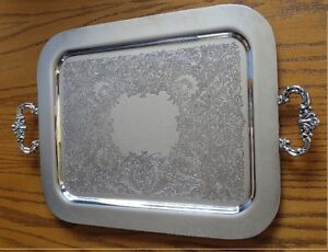 Rectangular Silver Serving Tray Kitchener / Waterloo Kitchener Area image 1