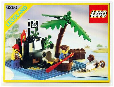 Lego vintage Pirates 6260 Shipwreck Island, Original Instructions & Box