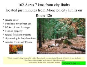 162 acres uncleared land 7kms from city , river
