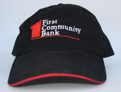 First Community Bank One Size Curved Brim Strapback Dad Hat Baseball Cap