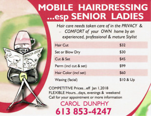 Seniors Hair | Find or Advertise Services in Ontario