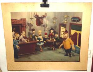PRINT THE SHOOTING OF DAN McGREW Cartoon Print  by REX WERNER