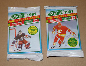 Score 1991-92 Series 2 Hockey Card pack