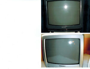"""TVs for sale:  13"""" (new) and 19"""" for seniors or kid's rooms"""