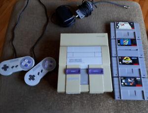 Console Super Nintendo et jeux