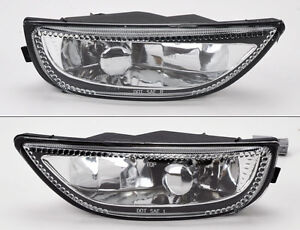 Front Bumper Glass Fog Lights Lamps Pair RH LH for Toyota Corolla 2001-2002