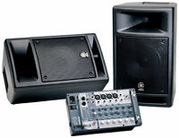 PA system Yamaha STAGEPAS 300 Portable PA System , 2 shure mics