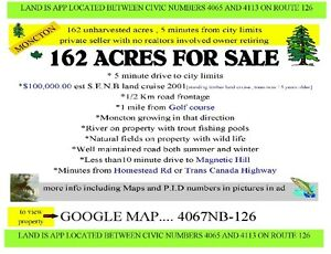 162 acres never harvested 5 minutes fr city limits