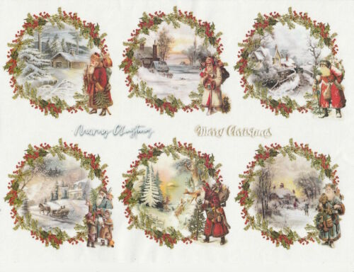 Rice Paper for Decoupage, Scrapbook Sheet, Craft Christmas packets 2