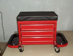 ULINE Rolling Tool box  Seat- $65 Firm