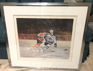 Signed and numbered prints of Borje Salming and Darryl Sittler