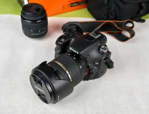 Sony a58 DSLR camera with Tamron 17-50mm 2.8 lens