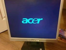 "ACER LCD MONITOR PC AL1917 19"""