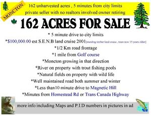 162 acres 5 minutes from moncton