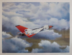 Limited edition Avro Arrow print by artist J B Rutherford