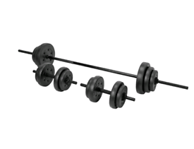 55kg Vinyl Barbell and Dumbbell Weight Set