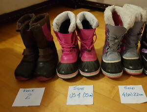 lot bottes hiver fille/winter boots girl