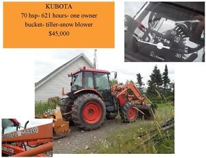 kubota , 70 hr , 600 hrs, 1 owner