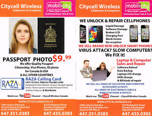 ALL KIND OF ID & PASSPORT PHOTO $7.99 IN DOWNTOWN & SCARBOROUGH