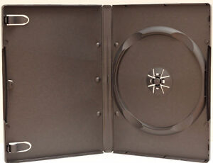 60 STANDARD Black Single DVD Cases 14MM