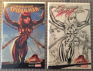 Amazing Spider-Man #15 NM Campbell Sketch+Reg Variant Signed COA