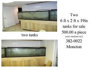 large and smaller fish tanks , 382-0022 also large koi